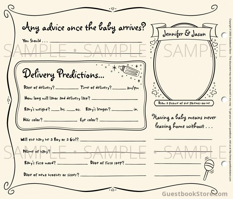 6 Images of Free Printable Baby Shower Guest Book Pages