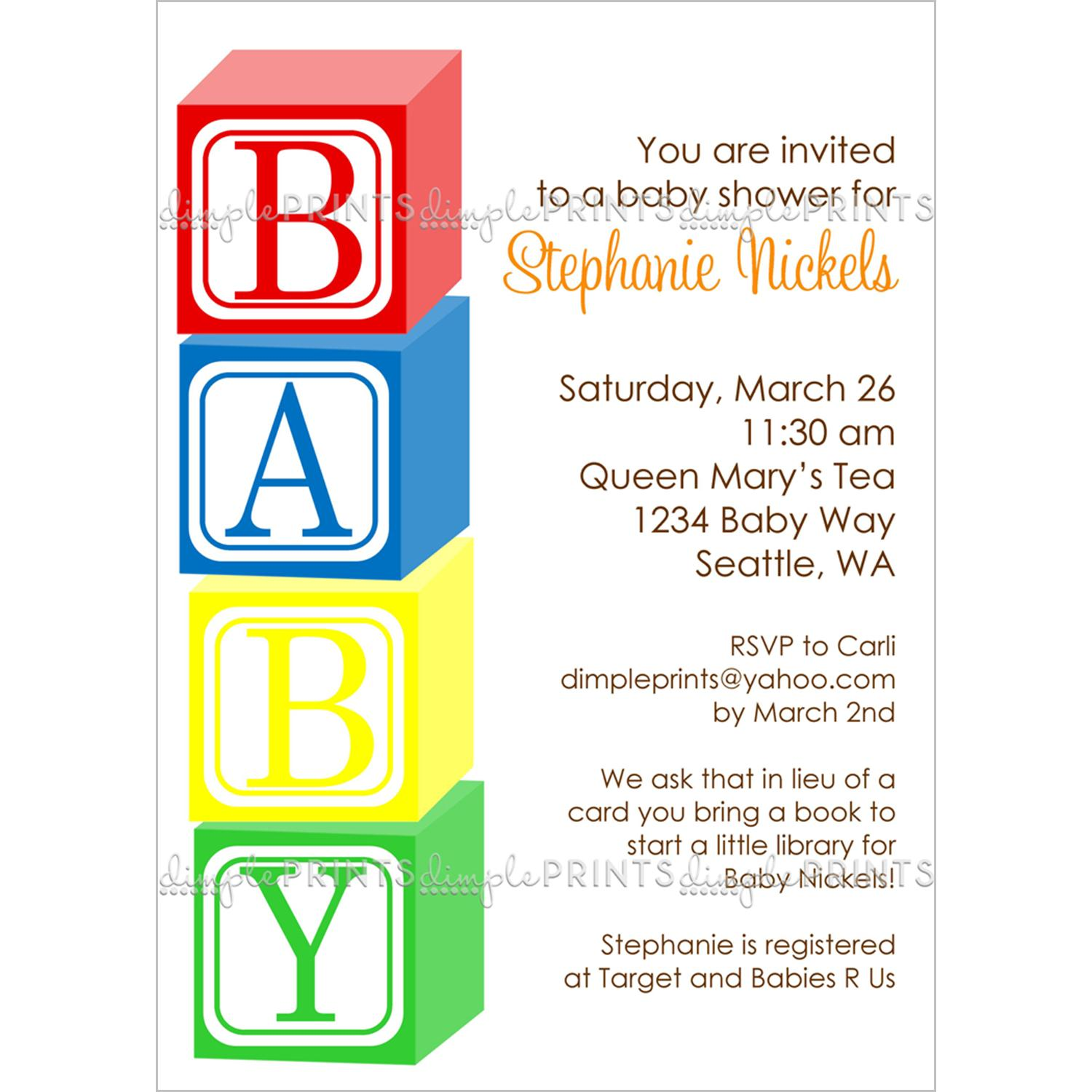6 Images of Baby Blocks Printable