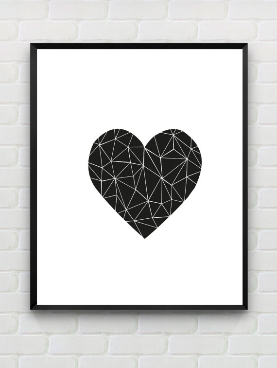 5 Images of Printable Black And White Wall Love