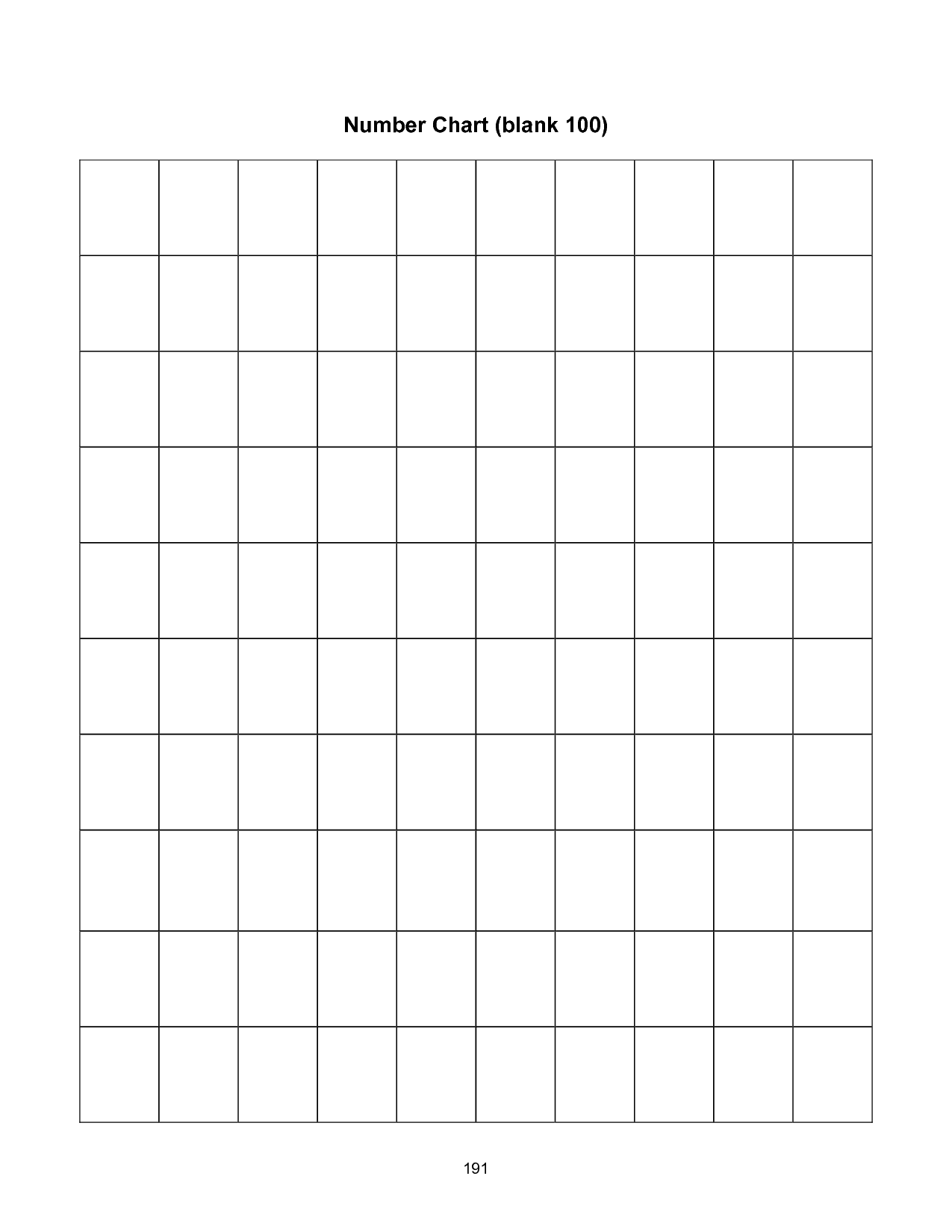 ... Grid 100, Printable Blank 100 Number Chart and Hundred Printable 100