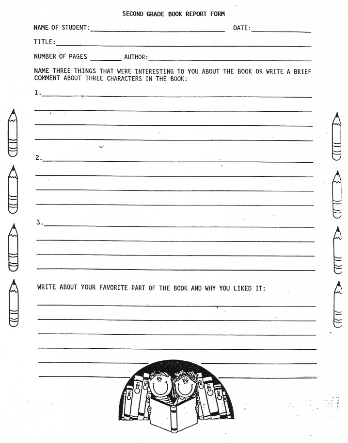 8 Best Images of Printable Book Report Outline - 5th Grade ...
