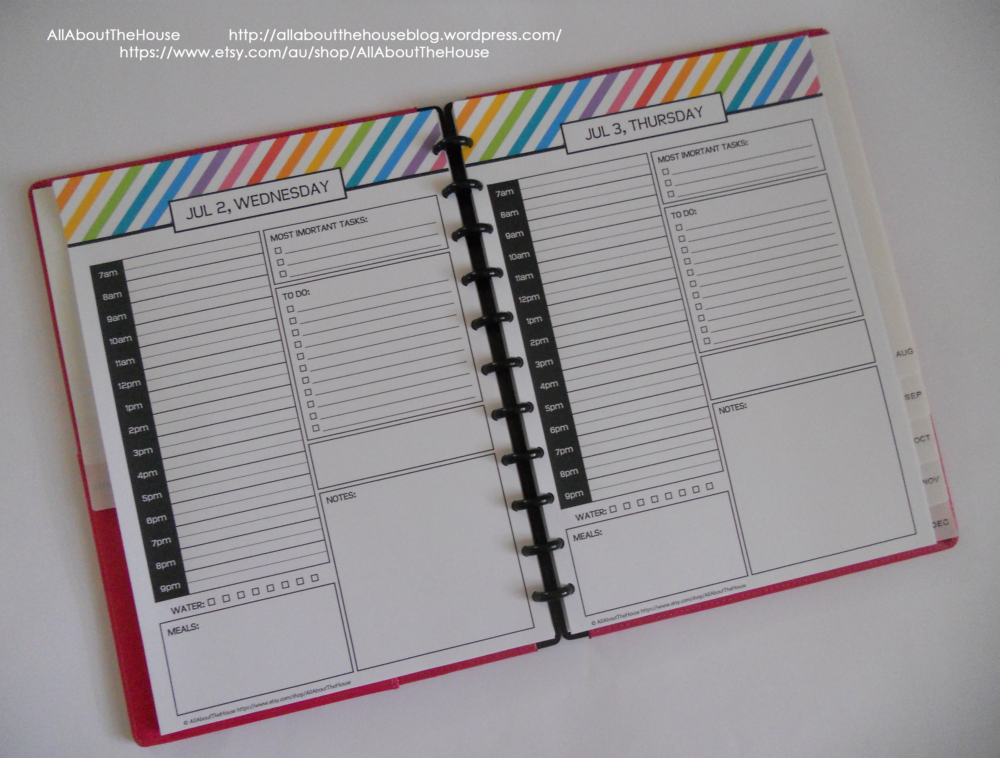 Printable Daily Planner 2015