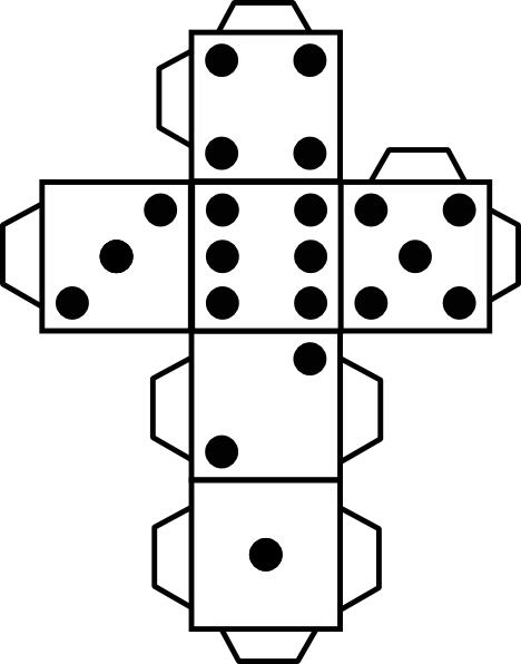 8 Images of Large Dice Cut Out Printable