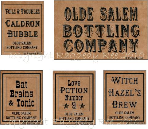 4 Images of Printable Primitive Labels For Bottles