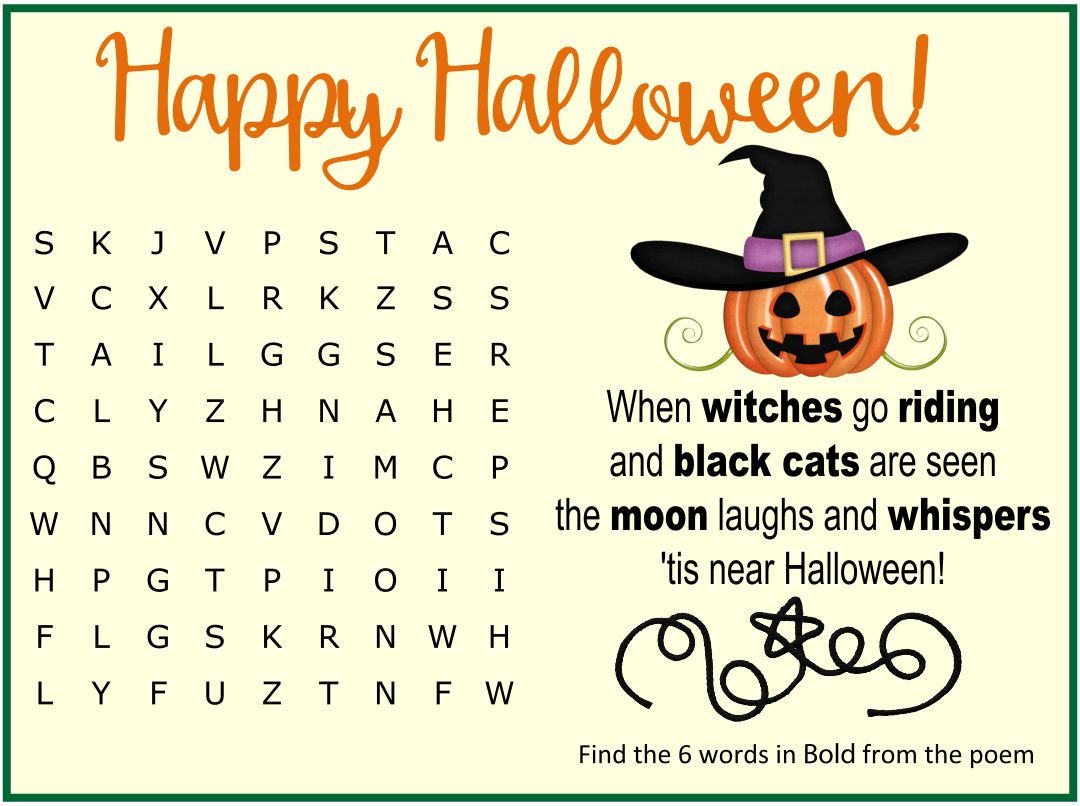 5 Images of Free Printable Halloween Word Search