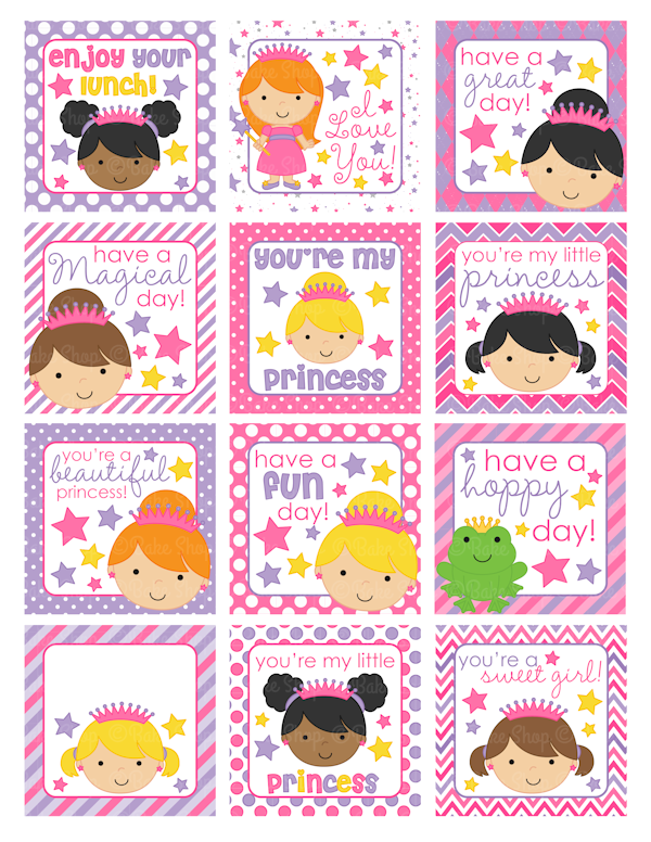 6 Images of Lunch Box Notes Printable Template