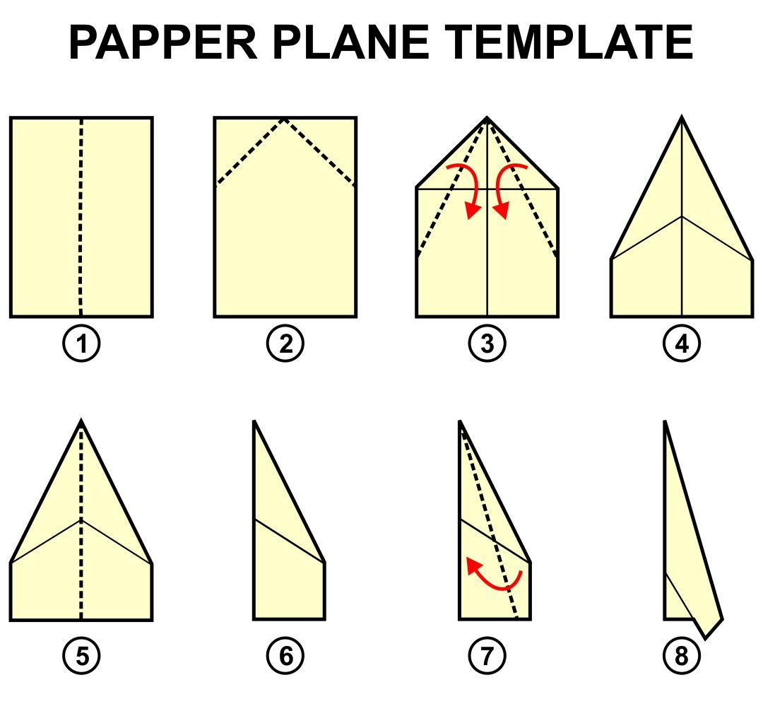 6 Images of Printable Paper Airplane Templates