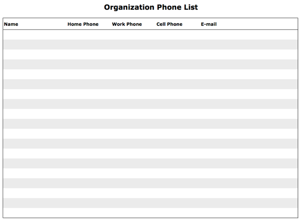 Doc702958 Phone List Template Word List Templates Free Phone – Telephone Number Template