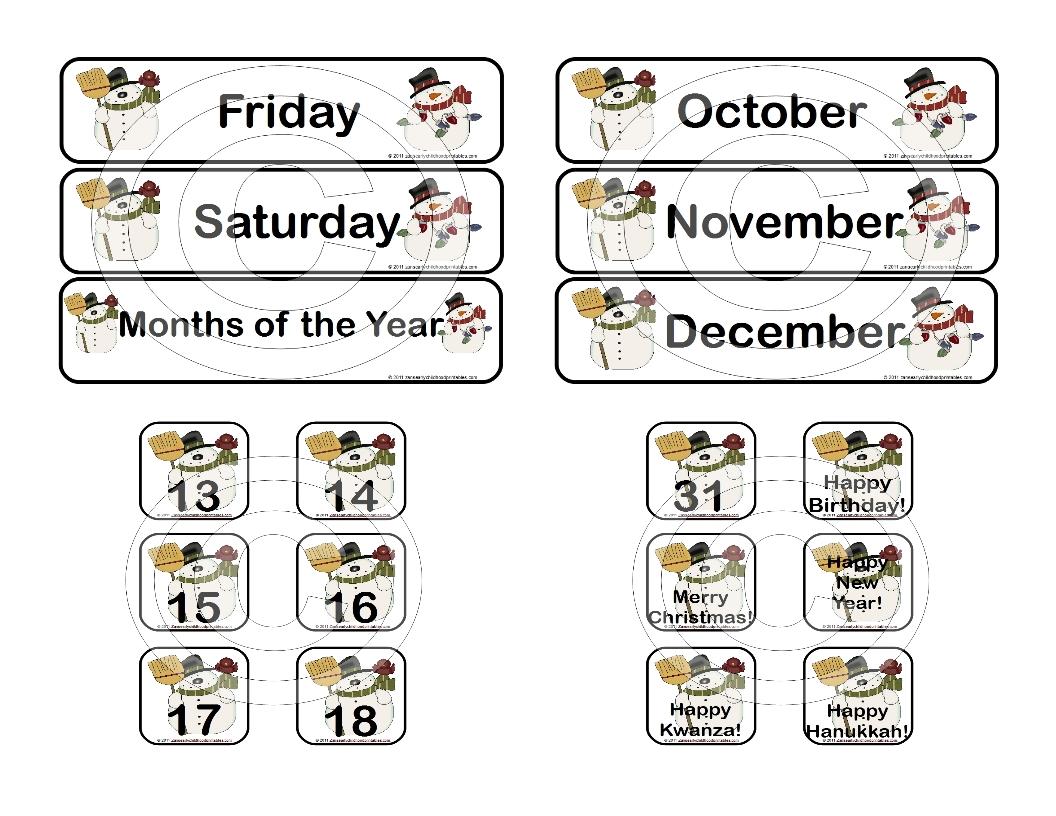 Calendar Numbers Printables Preschool : Best images of printable preschool numbers free
