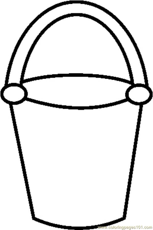 5 Images of Bucket Template Printable