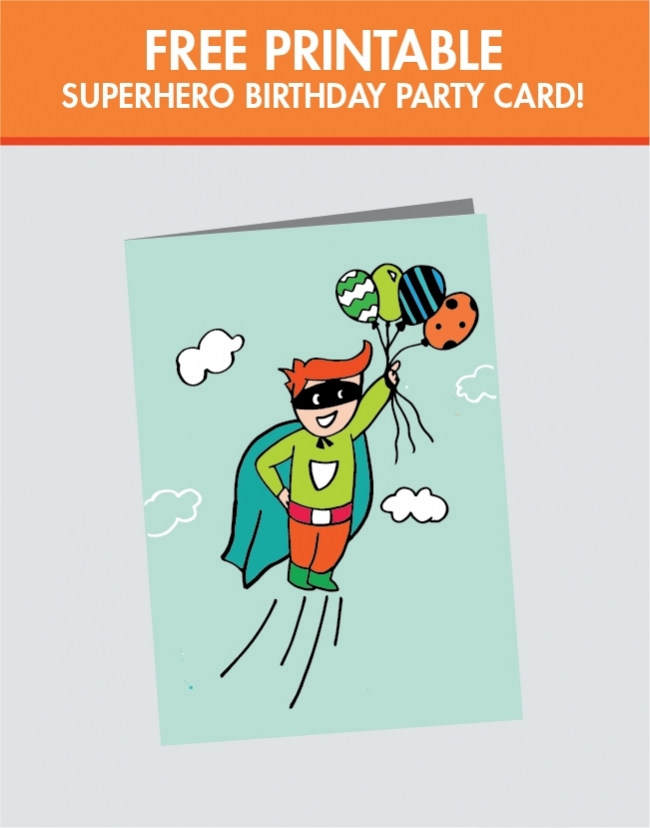 best images of superhero printable birthday cards  free, Birthday card