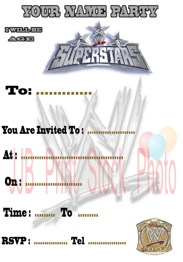 5 Best Images of Free Printable WWE Birthday Invitations ...