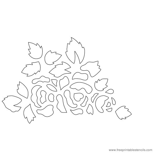 Rose Flower Stencils Printable Free