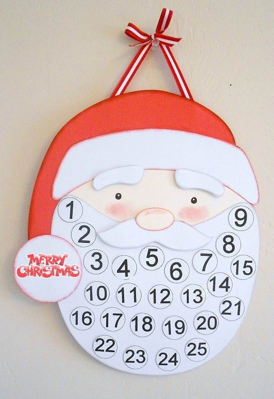 5 Images of Santa Countdown Calendar 2015 Printable