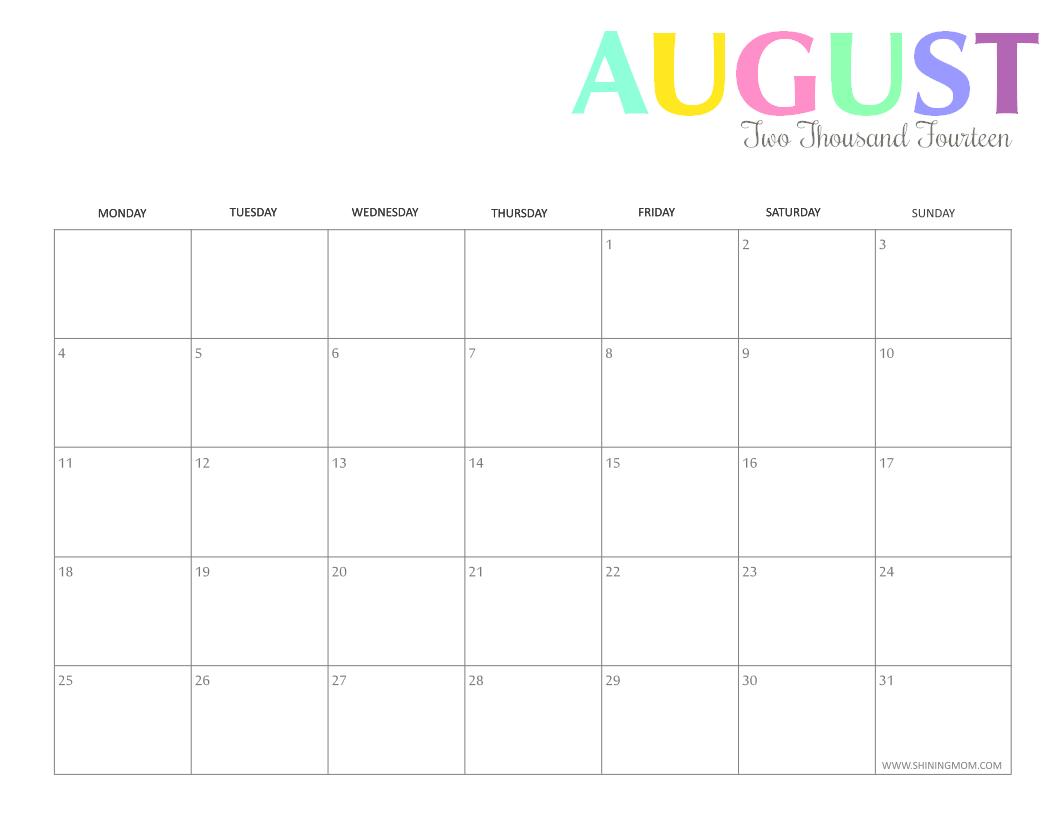 6 Images of Printable Mom Calendar