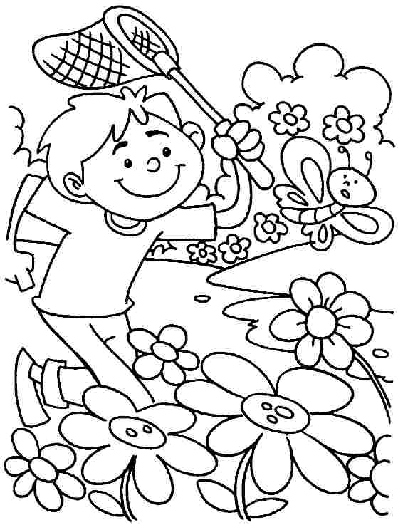 5 Best Images of Spring Season Coloring Pages Printable ...
