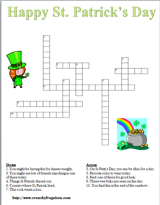 5 Images of St. Patrick's Day Puzzles Printable
