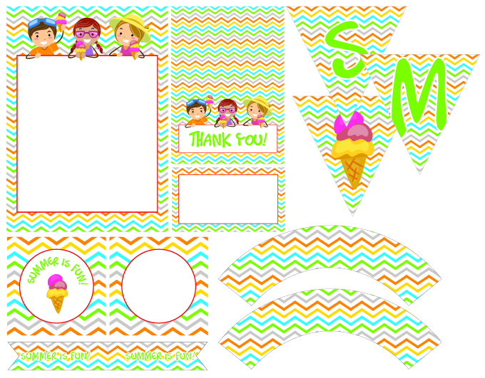 7 Images of Printables Summer Banner