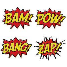 6 Images of Super Hero Printable Wordings
