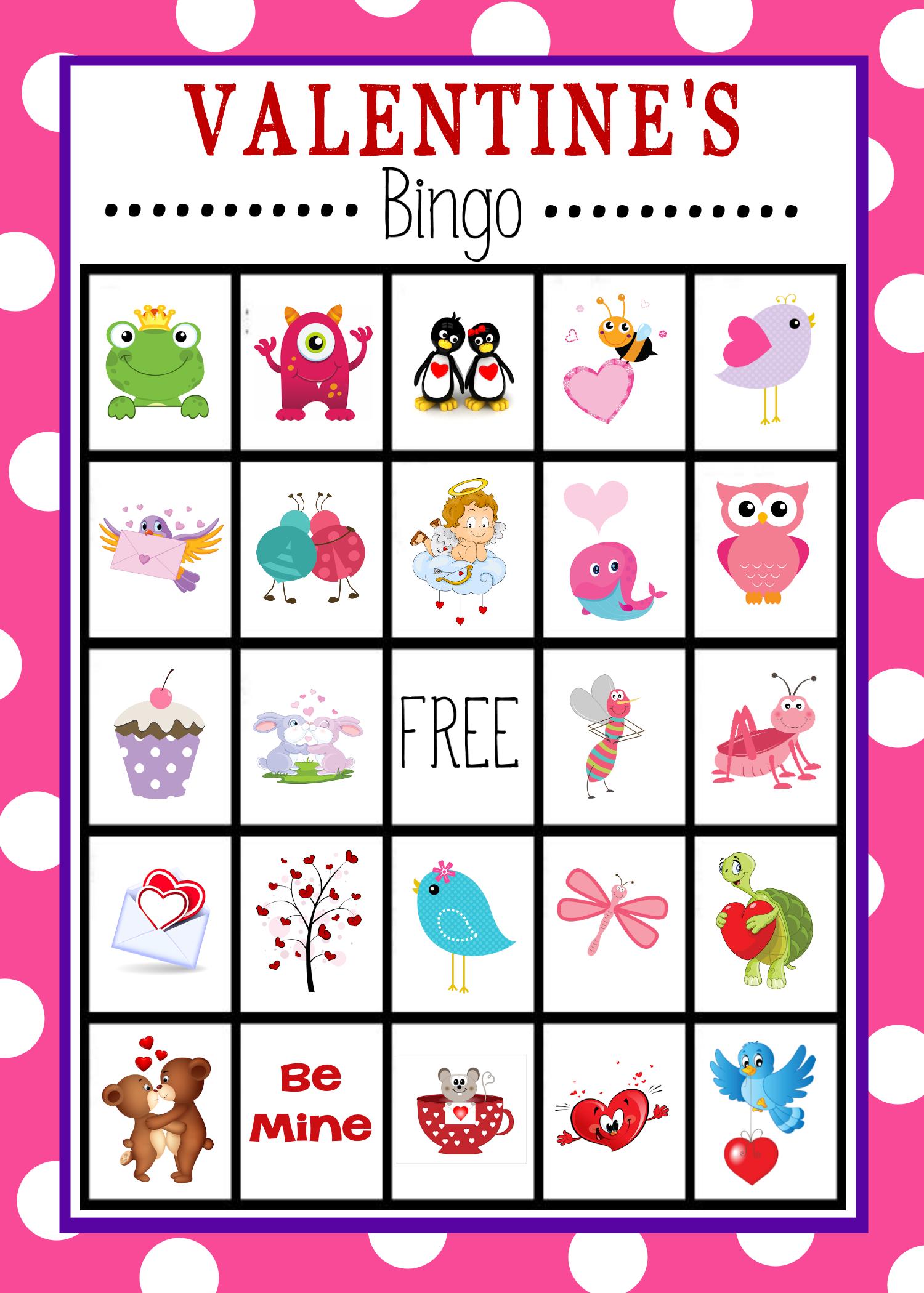 9 Images of Valentine's Day Bingo Game Printable