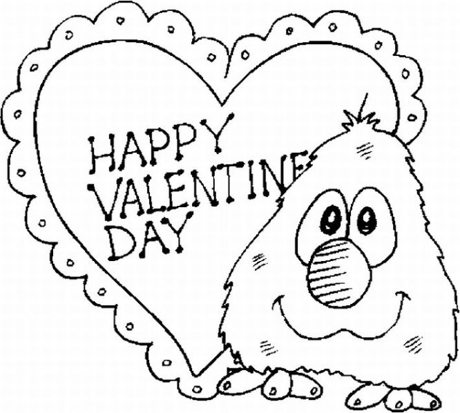 4 Images of Free Valentine's Day Coloring Printables