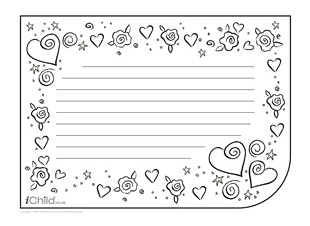 7 Best Images Of Valentines Day Writing Paper Printable