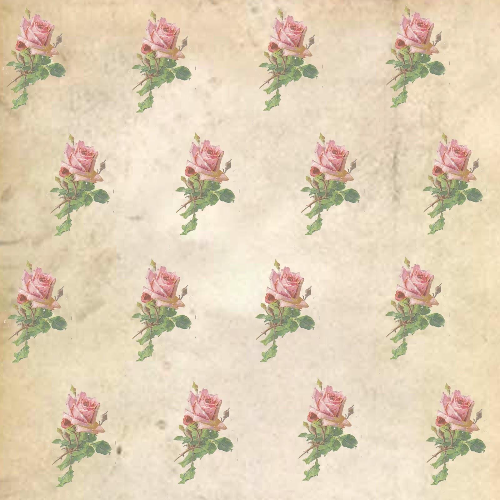 5 Images of Printable Vintage Pink Roses
