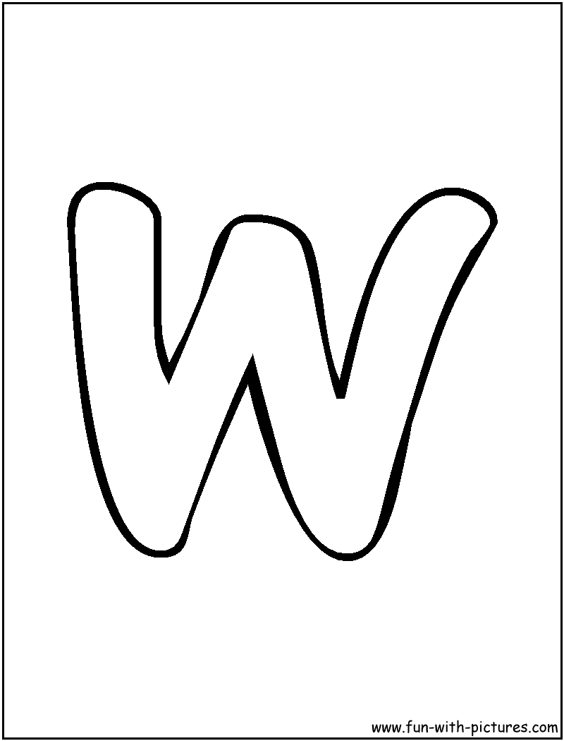 4 Best Images of Printable Bubble Letter W - W Bubble ...