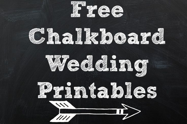 8 Images of Wedding Chalkboard Art Printable