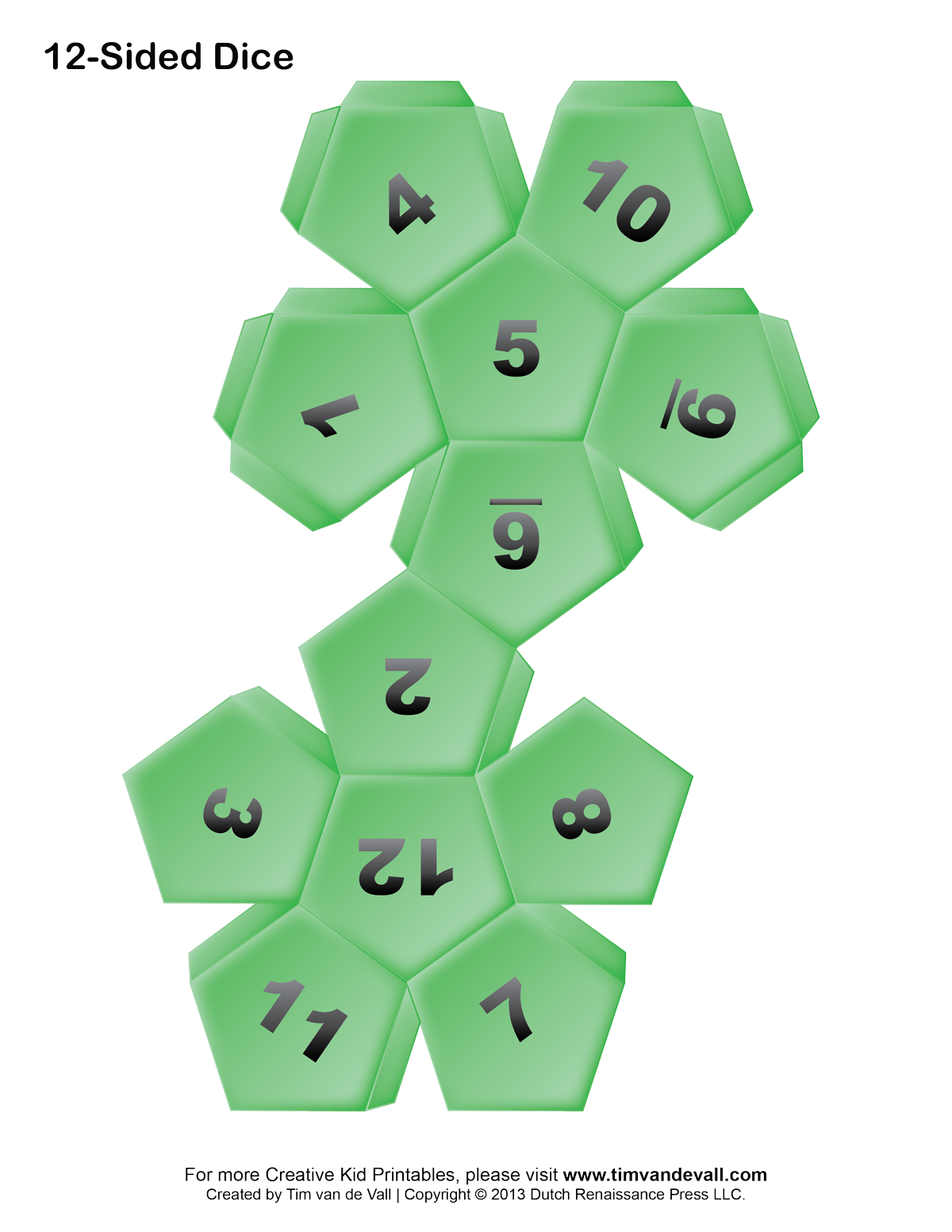 8 Images of 100 Sided Dice Template Printable