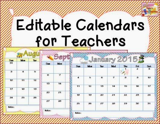 Teachers Calendar Template from www.printablee.com