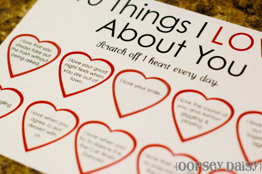 52 reasons why i love you template powerpoint - 6 best images of 100 printable i love you 52 reasons why