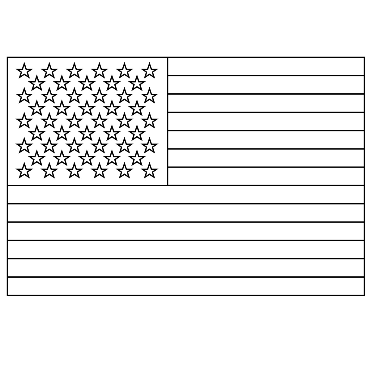 5 best images of american flag star template printable for Small star template printable free