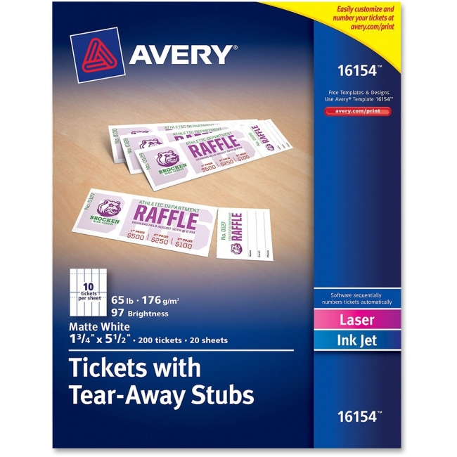 templates for tickets with stubs - 7 best images of avery raffle tickets printable avery