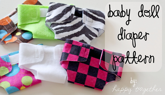 4 Images of Free Printable Doll Diaper Pattern