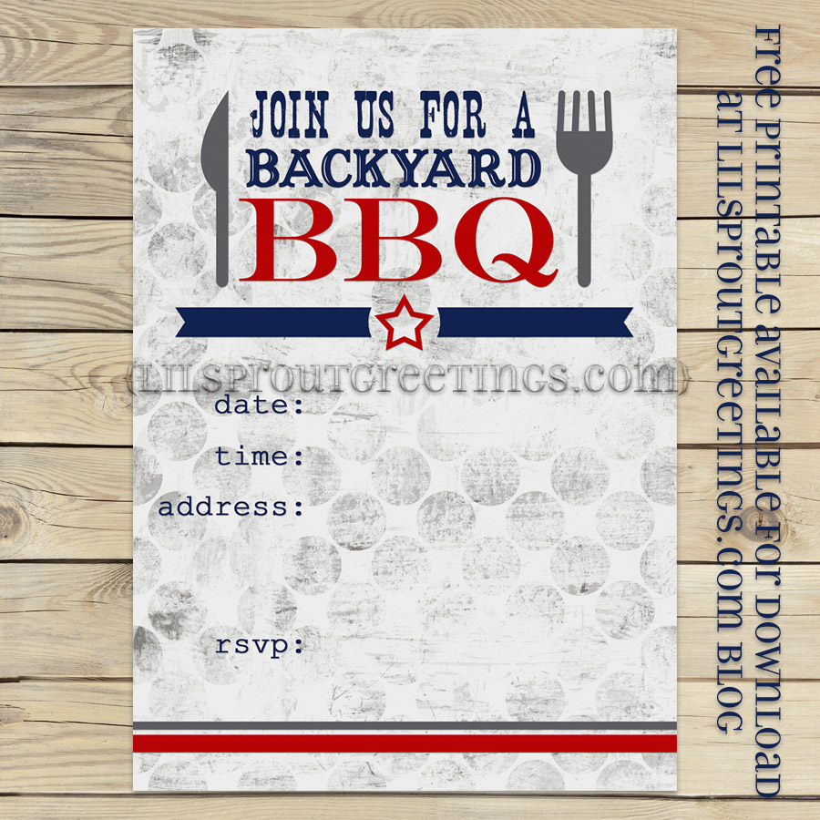 9 Images of Printable Blank BBQ Invitations