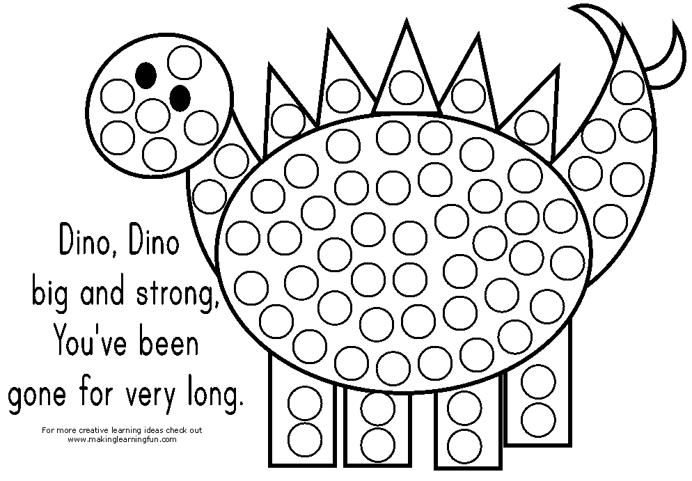 6 Images of Do A Dot Free Printable Coloring Pages