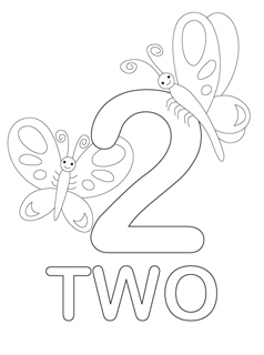 8 Images of Numbers 2 Coloring Printables 1-10