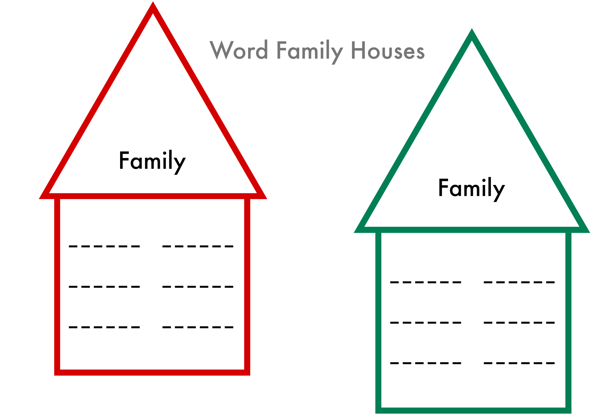 6 Images of Printable Word Family Lists