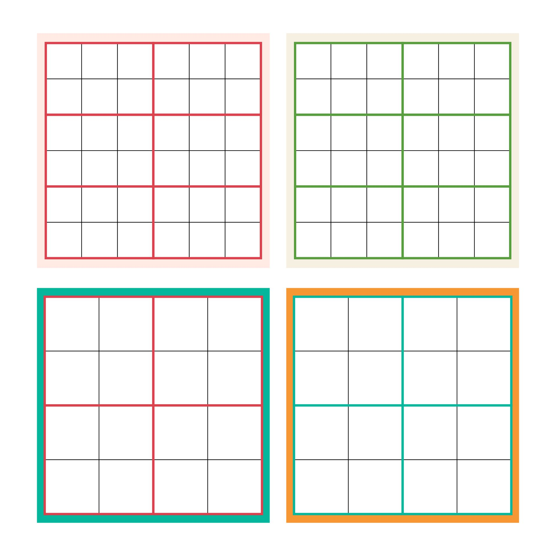 5 Images of Printable Blank Grid 3X3