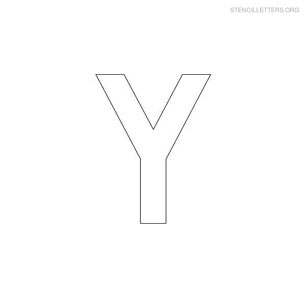 Block Letter Stencils Y