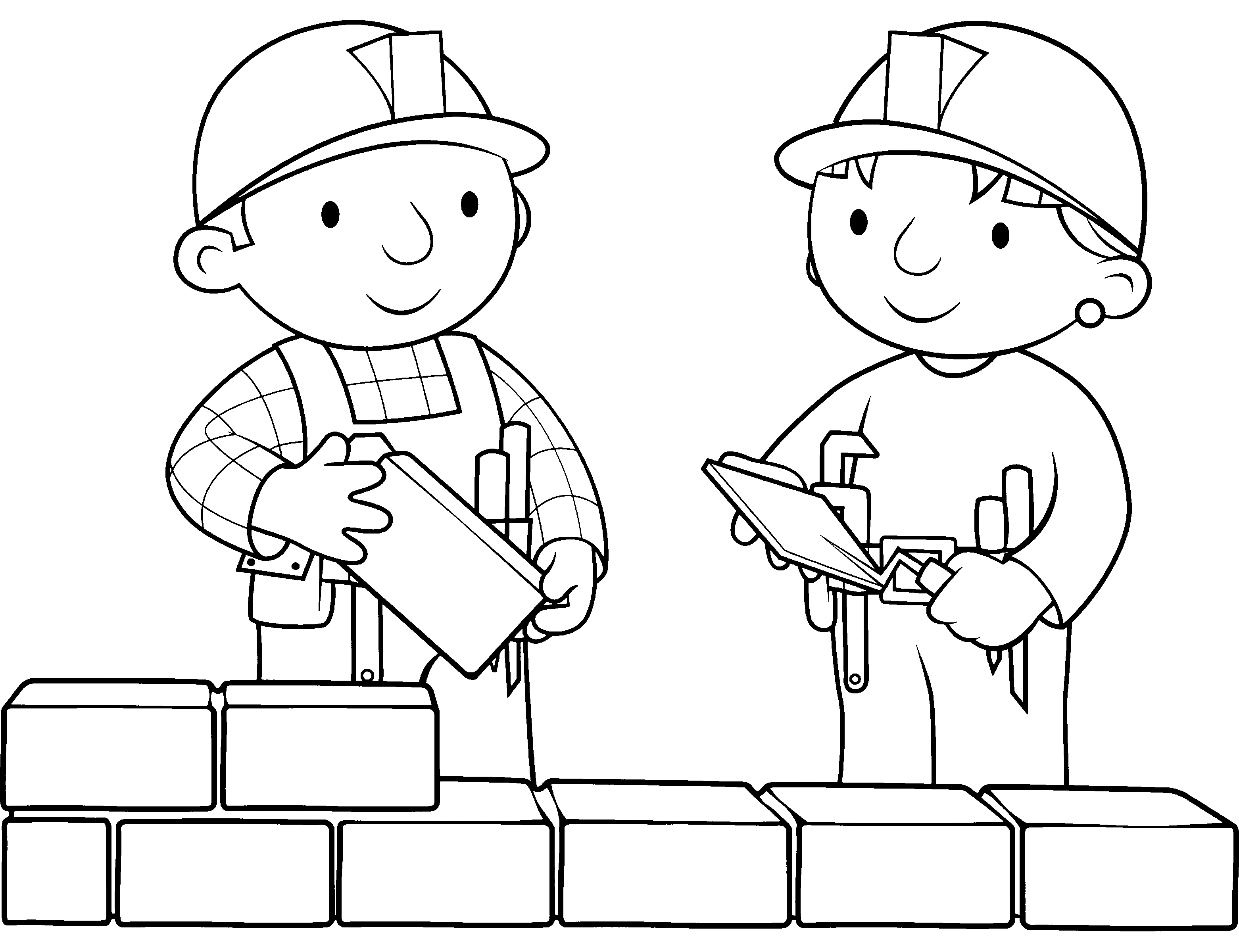 bob the builder coloring pages - 5 best images of bricks coloring sheets printable brick