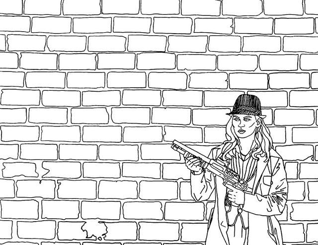printable brick wall coloring pages - photo#1