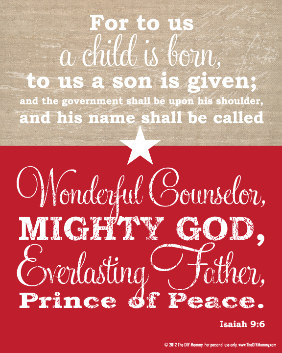 7 Images of Bible Verse Christmas Subway Printables