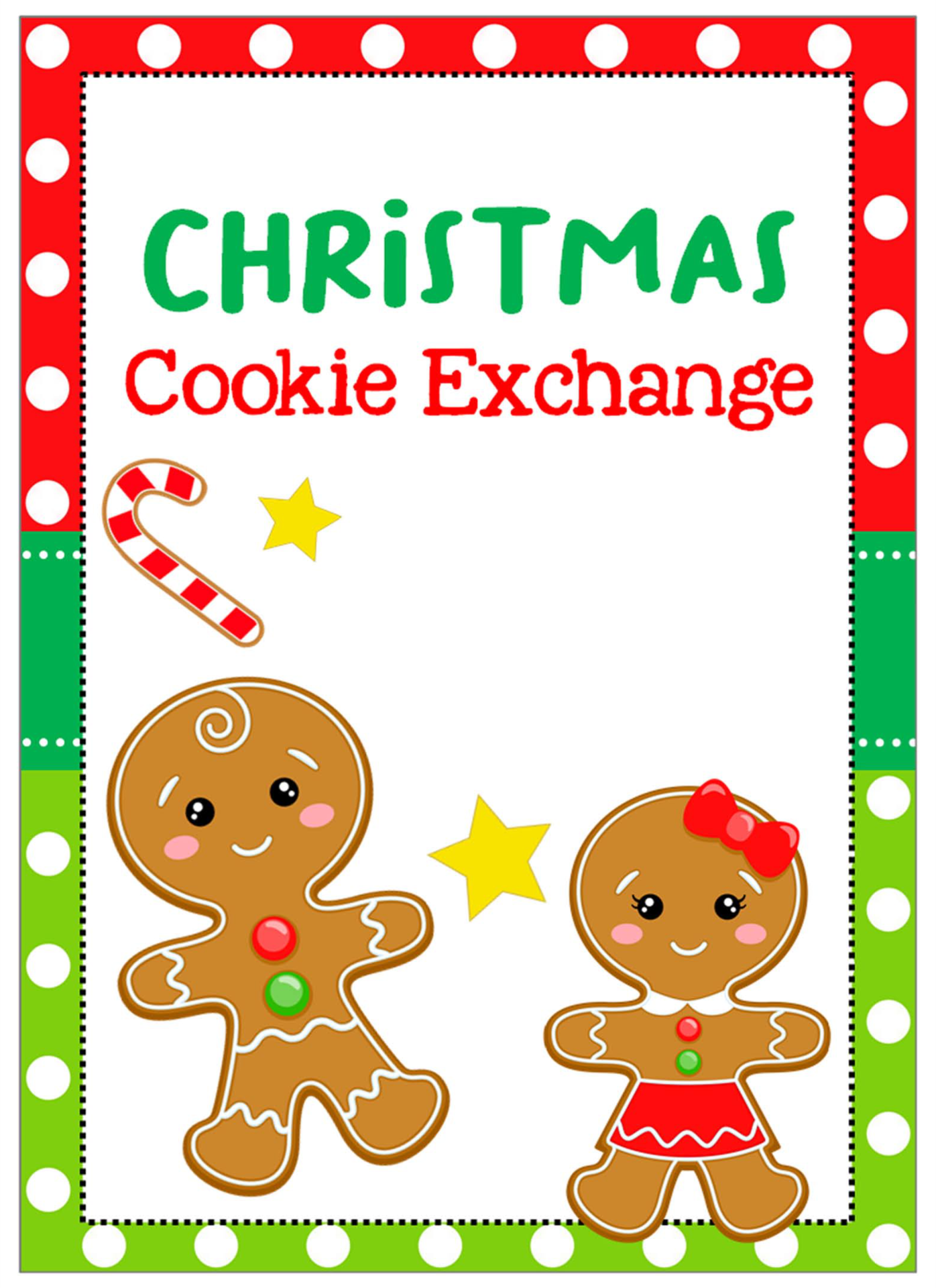 Invitation template cookie exchange invitations template christmas