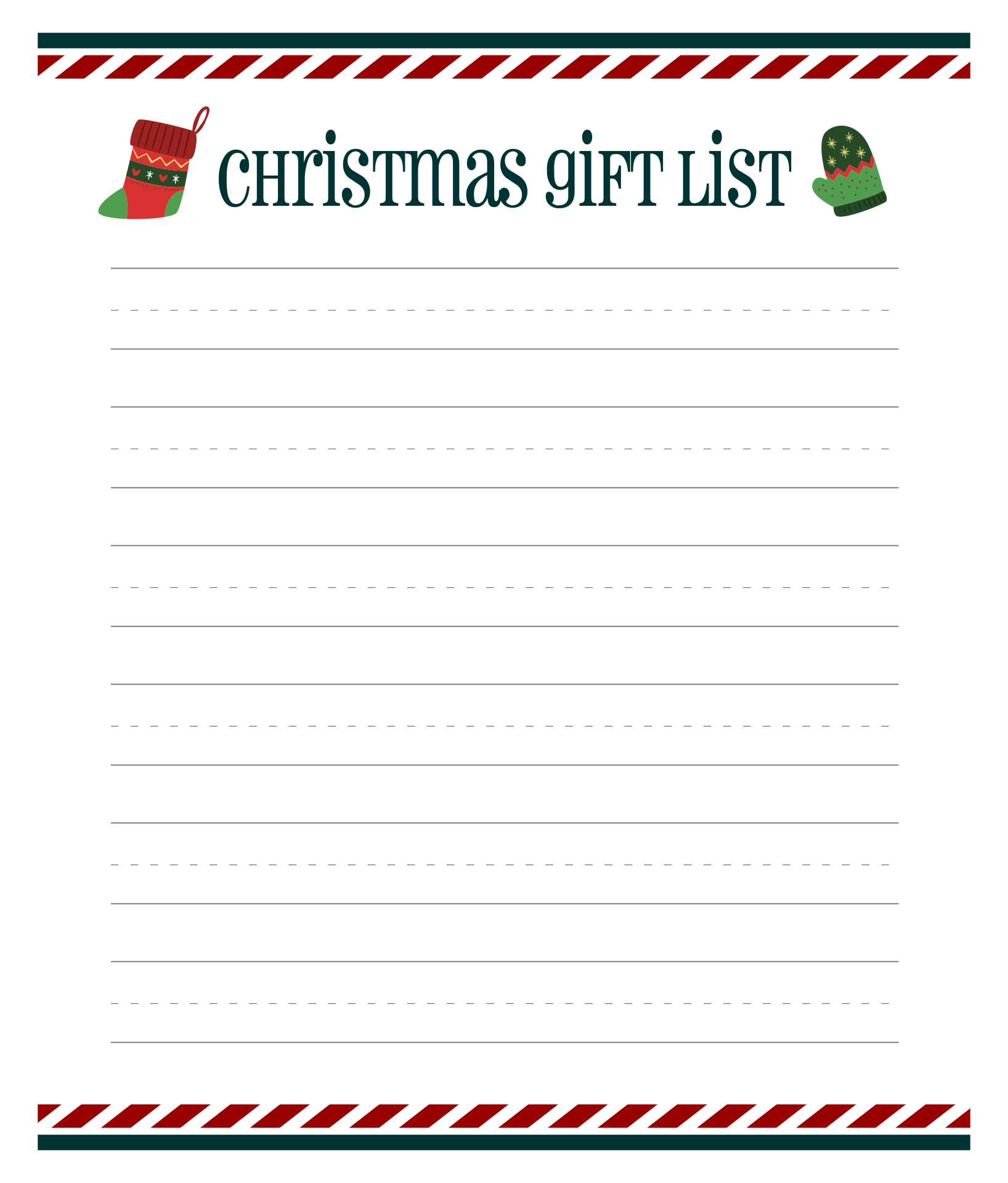 5 best images of my christmas list printable my christmas wish list printable printable. Black Bedroom Furniture Sets. Home Design Ideas