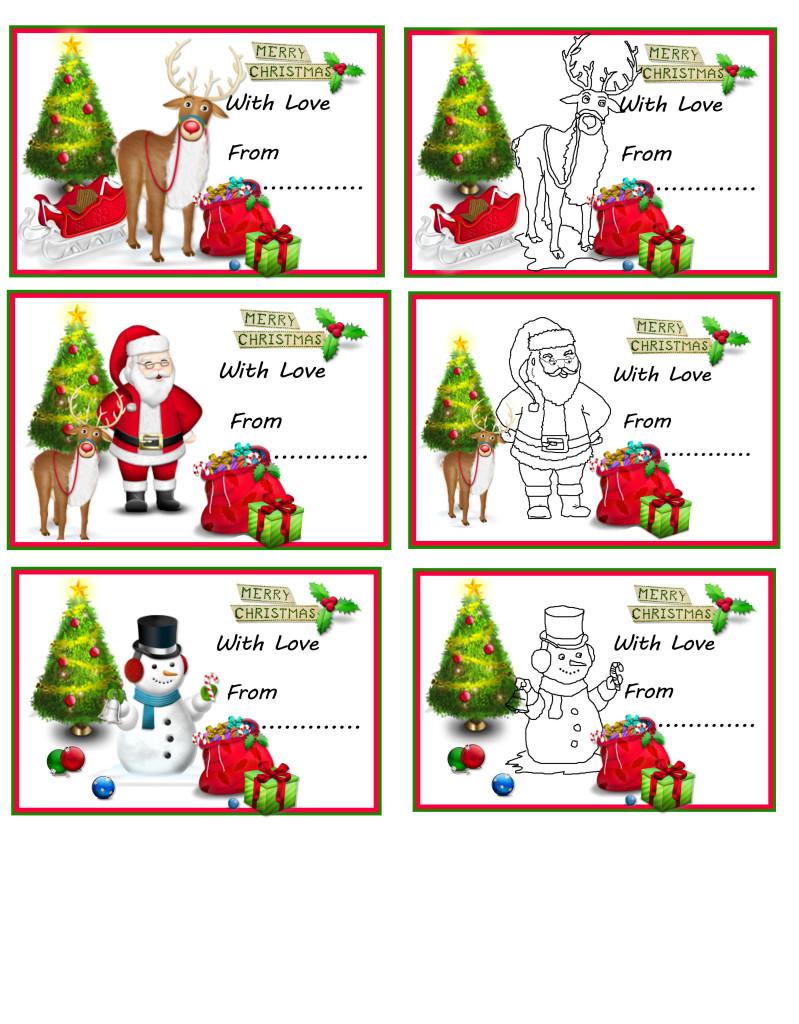 Christmas Gift Tags Print Out