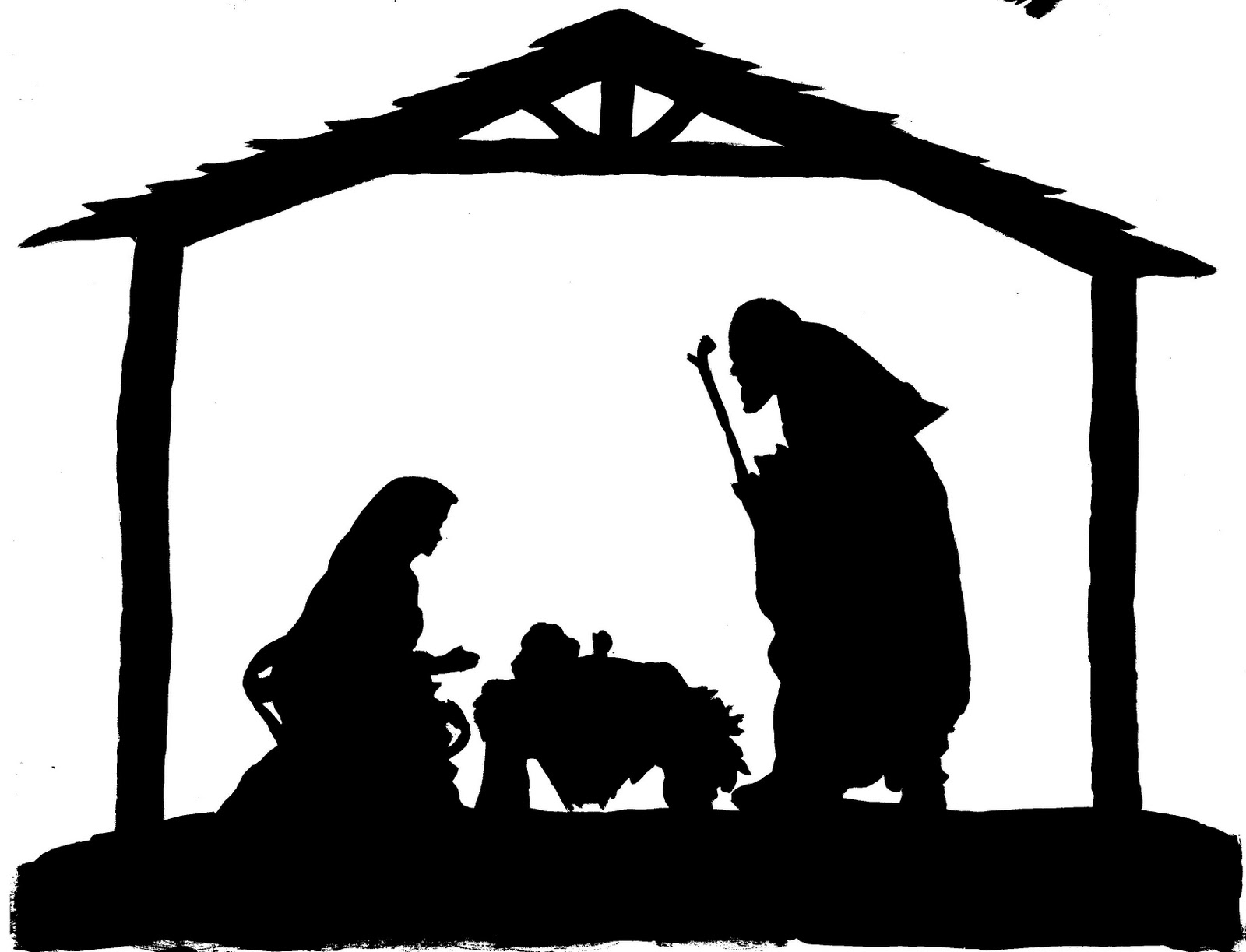 8 Images of Free Printable Christmas Nativity Clip Art