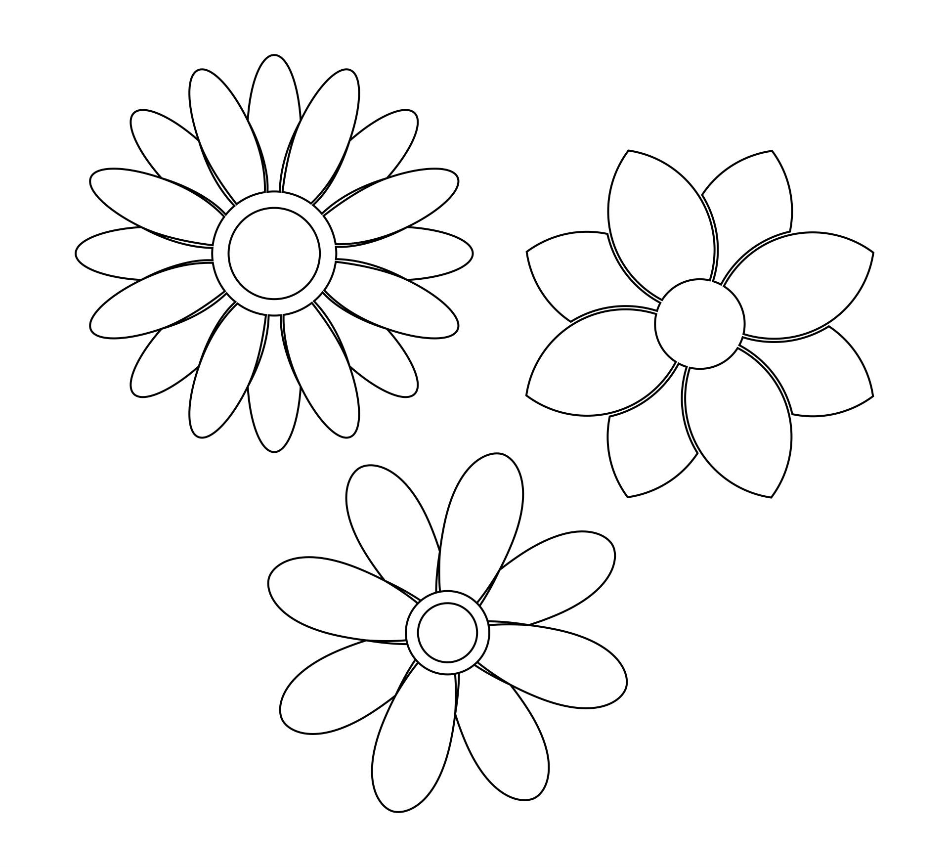 Daisy Flower Stencils Printable