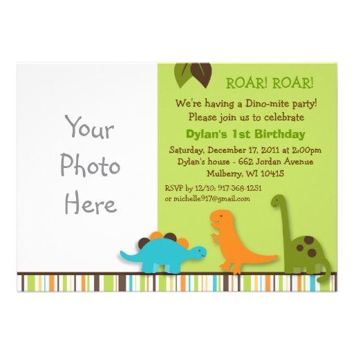 Dinosaur Birthday Invitation Boy